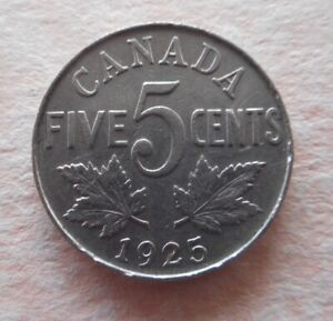 Canada - 5 cents coin 1925.