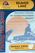 Beaver Lake Detailed Fishing Map, GPS Points, Waterproof, Depth Contours  #L173