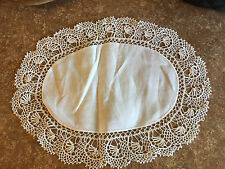 """White Lace Hand Made Table Linen Center Piece Doily 17.5"""""""