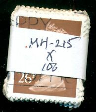 GREAT BRITAIN SG-Y1685, SCOTT # MH-215 MACHIN USED, 100 STAMPS, GREAT PRICE!