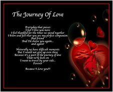 Personalised Journey Of Love Poem Birthday Christmas Valentines Day Gift Present