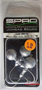 Spro Jig-Köpfe mit Original Gamakatsu Jig-Haken Nr. 22 in Hakengr. 3/0, 15 g Gew