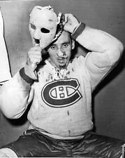 1959 Montreal Canadiens JACQUES PLANTE Glossy 8x10 Locker Room Photo Print