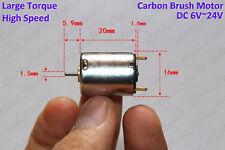 DC 12V 24V 17000RPM High Speed Carbon Brush 16mm Mini Motor DIY Hobby Toy Model