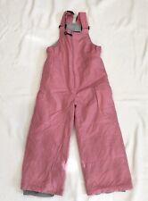 Girls Medium Pink Ski Bib With Adjustable Straps By Rawik Sz L/6 LKNW