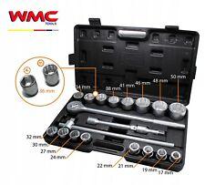 Coffret 3/4'' clé à cliquet douilles 12 pans 17 à 50 mm POIDS LOURD CAMION ENGIN