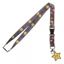 Nintendo Super Mario Brothers Star Video Game ID Badge Holder Keychain Lanyard
