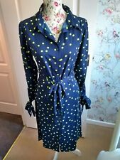Navy Shirt Dress, Size 10