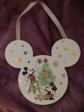 NEW Primark 'Merry Christmas' Mickey & Minnie Mouse Hanging  Plaque Sign