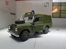 1:43 Scale Model Land Rover 109 Series 3 Softtop Military Green Oxford Cararama