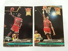 MICHAEL JORDAN & SCOTTIE PIPPEN 1993 DUNK RANK CHICAGO BULLS BASKETBALL CARDS