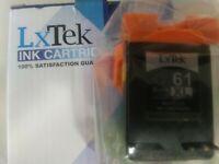 LxTek 61XL Black Ink Cartridge Sealed Instructions in Box