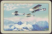 Playing Cards 1 Single Card Old Vintage Named RAF VICKERS VICTORIA Airplane Art