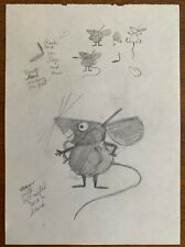 2 Orig T. HEE Disney Animation Artist Pencil Character Drawings Mouse Toy Model