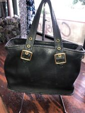 COACH VINTAGE BLACK LEATHER SMALL TOTE BAG #9063