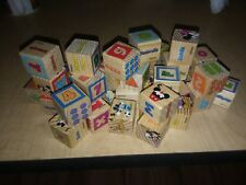 Disney Mickey & Minnie Learning and Grow blocks,wooden,40,complete set