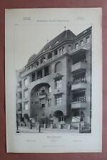 Jugendstil Architektur Carl Schmidt 1908 Berlin Wilmersdorf Helmstedters 32x48cm