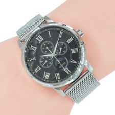 Guess Herren Uhr Silber Milanaise Armband W0871G1 Delancy Dress Armbanduhr