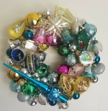 "Christmas Handmade Unbreakable Plastic  Vintage Style Ornament Wreath 16"" Modern"