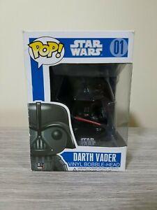 Rare Vaulted Large Font Star Wars Darth Vader #01 Funko Pop Vinyl