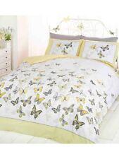 Mariposa Flutter Limón King Size duvet cover set amarillo ropa de Cama Gratis P + P