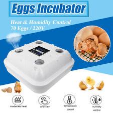 70 Eggs 220V Digital Incubator Bird Hatcher Machine Temperature&Humidity Control