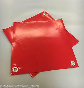 20 Stk. Warnfahne Warnflagge Endfahne Schlussfahne Überlänge  Rot 47 x 47 cm