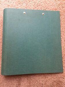 Vtg Mead Rollerback Binder 90s 1997 Green Teal Canvas Denim Fabric Folder