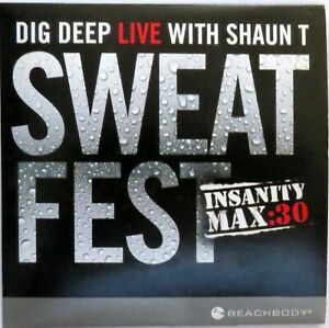 Dig Deep Live With Shaun T / Insanity Max: 30 Sweat Fest / SINGLE DVD!