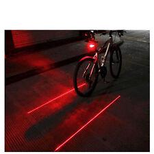 Waterproof Bicycle Cycling Bike Head Laser Beam + LED Rear Back Tail Light Lamp