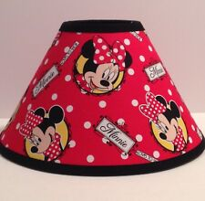 Disney Minnie Mouse Red Fabric Children's Lamp Shade