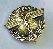 Vintage 5 Year Service Boeing Aircraft Pin 10K 2 Toned Gold Top From Vet Pilot