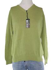 sutor mantellassi maglione uomo verde scollo v taglia xxl extra large