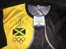 Usain Bolt Signed Rio Olympics Jersey Gold Medal 9x Gold 🇯🇲 Jamaica Beckett#14