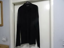 MENS DOLCE & GABBANA MADE IN ITALY BLACK LONG SLEEVE SHIRT SZ 50 GREAT CONDITION