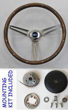 "1965-1969 Fairlane Ranchero Galaxie 500 Grant Walnut Steering Wheel 15"""