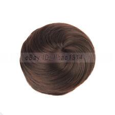 US Ship _ Women's Hair Buns Short Straight Donut Drawstring Extensions Synthetic