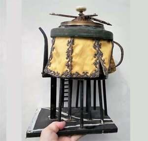 Handmade Flying Machine TEAPOT Air Ship Sculpture Vintage Water Tower Brass Prop