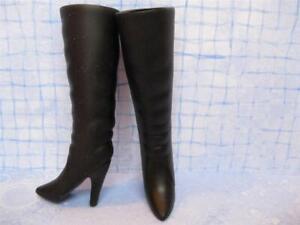 BARBIE DOLL FASHION clothes: Hannah Montana Black High Heel Spike Boots Shoes
