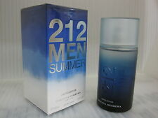 212 MEN SUMMER LIMITED EIDITION 2013 CAROLINA HERRERA 3.4 oz / 100 ML EDT Spray