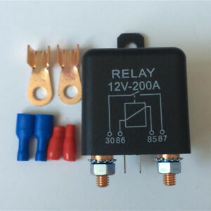 12V 120A Battery Switch for Car Starter Switch High Power Relays 2 Pin+Terminals