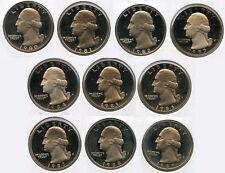 1980-1989 Washington Cuarto De Prueba Moneda Juego Colección -San Francisco-