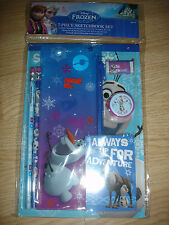 NEW Disney Frozen Olaf Sven 7 pc sketchbook set pencils notepad pouch school