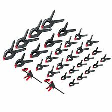 WORKPRO 30PC Spring Clamps Set Hard Plastic Woodworking Heavy Duty DIY Clip Tool
