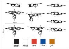 "Scroll decorative swirl sticker set of 10 Truck & Horse Float ute vinyl NEW ""H"""