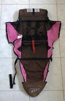 BOB Revolution Single Jogger Stroller FABRIC SEAT Cloth - Brown Pink Used 2009