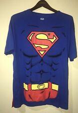 Superman Men T-Shirt Tee Removable Cape Halloween Costume Sz L NWT Short Sleeve