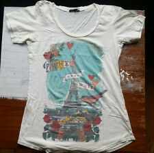 Truly, Madly, Deeply (Urban Outfitters) s/s Paris Can Wait tshirt, size M