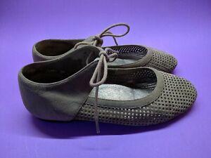 Sara Cole Design Womens Shoes Flat Casual Lace Up Suede Size 36 EU (Size 5) Tan