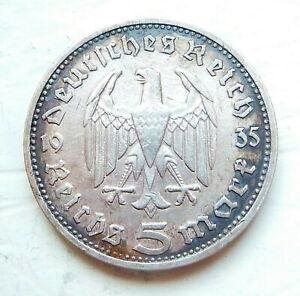 ALLEMAGNE  5 mark 1935 G  argent